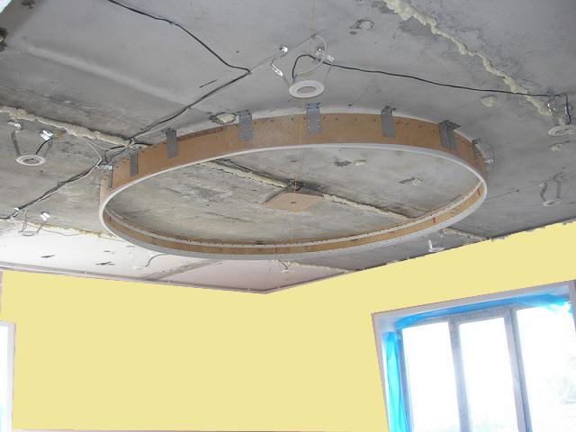 Как сделать натяжной потолок 2 уровня