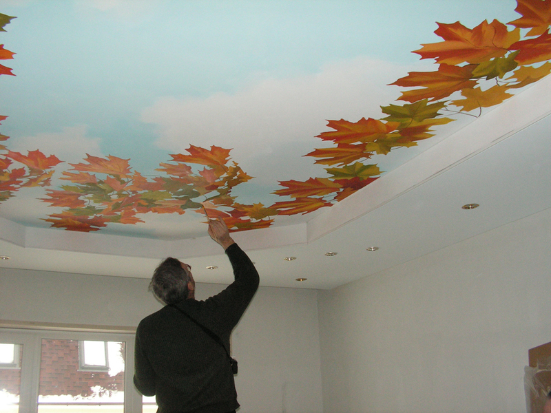 Потолок красивый своими руками 68
