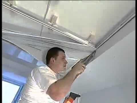 Натяжные потолки монтаж видео своими руками видео