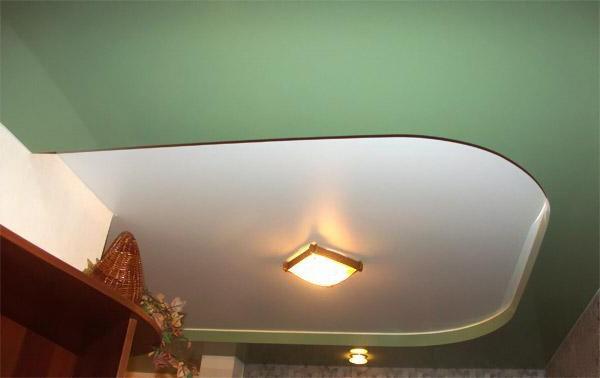Матовый натяжной потолок в коттедж