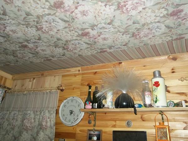 Потолки на даче своими руками фото