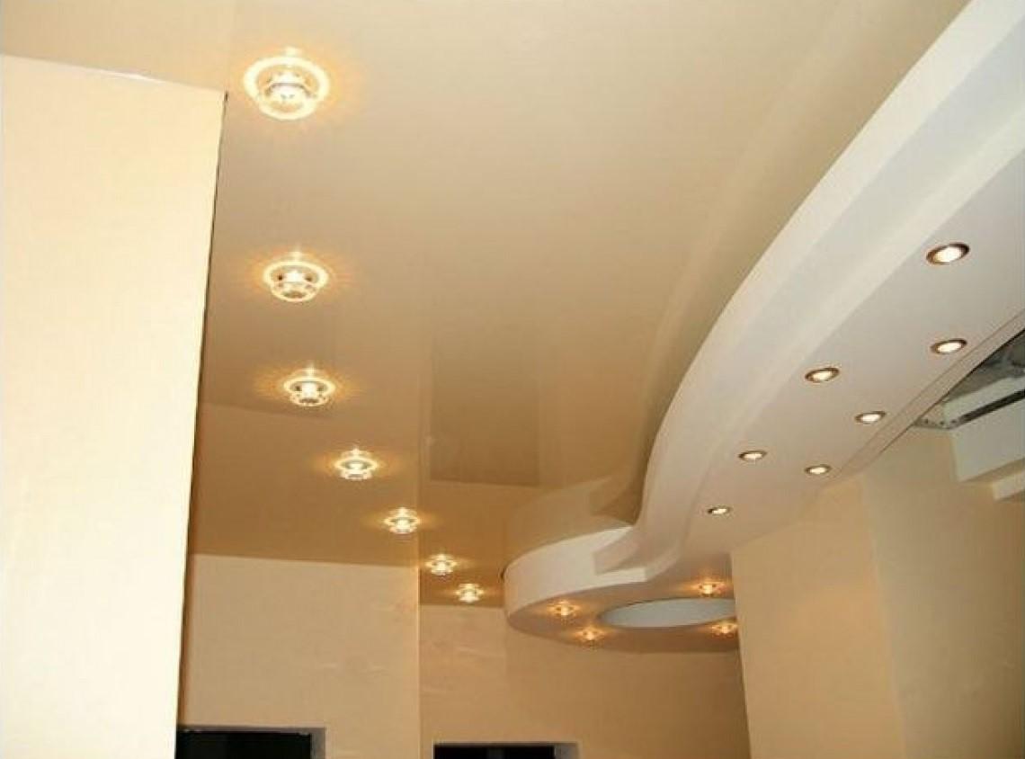 точечные светильники для потолков.