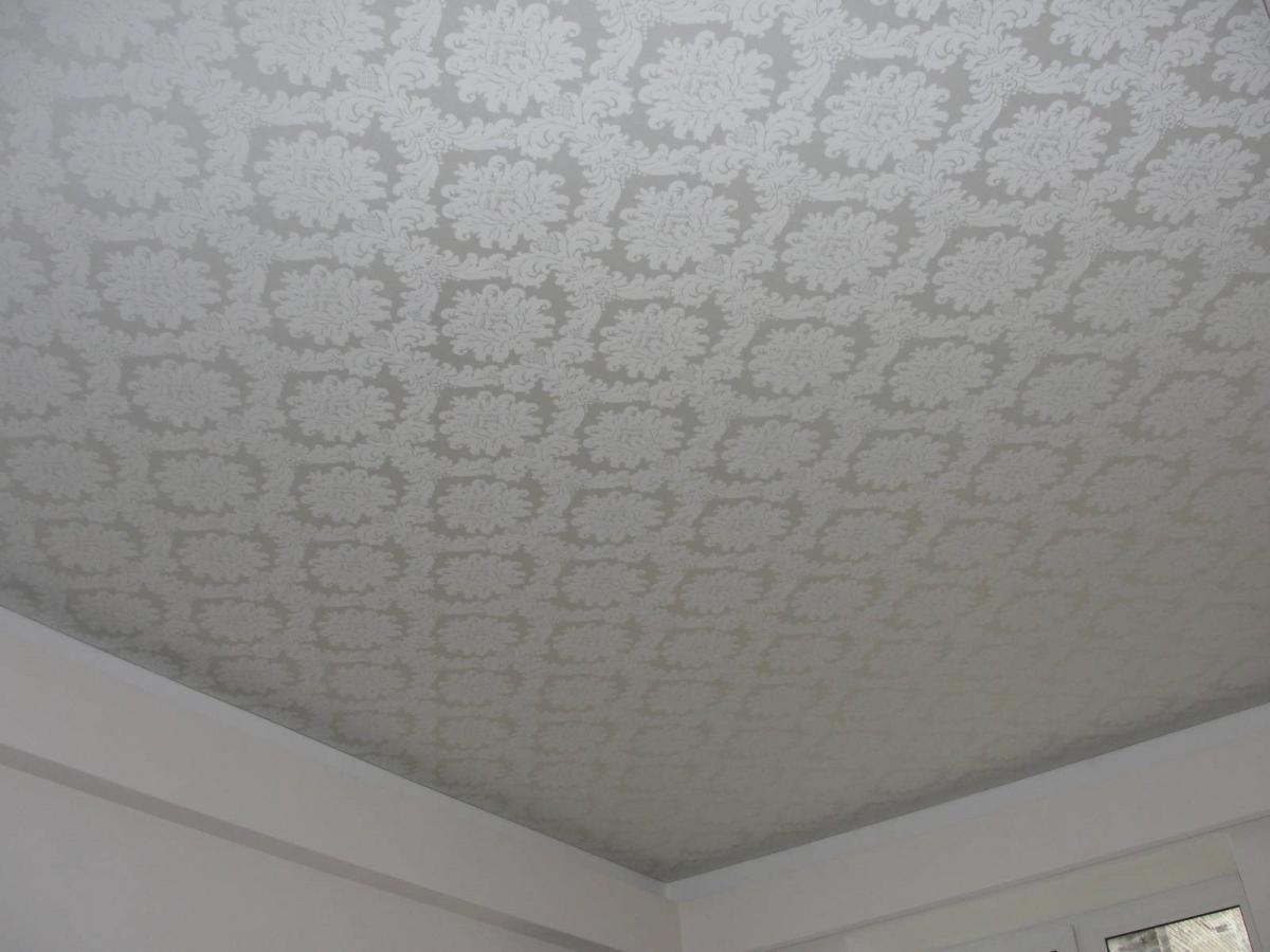 Ткань на потолок в спальне